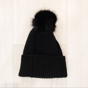 Cotton On Accessories - Cotton On Black Puff Ball Hat b06418ebbdd